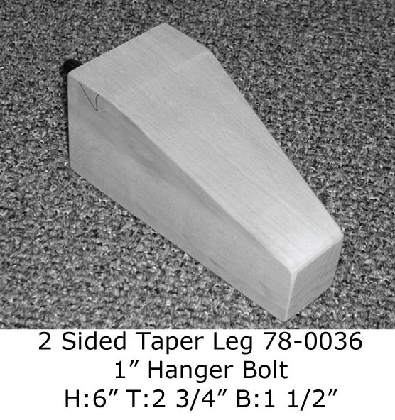 2 Sided Tapered Furniture Leg